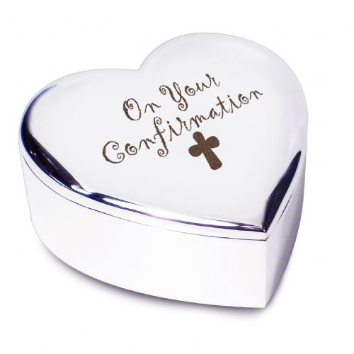 Personalised Confirmation Cross Heart Trinket